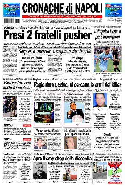 Cronache di napoli quotidiano di napoli for Il mattino di napoli cronaca