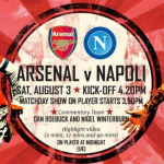 Napoli Arsenal Streaming e Diretta Tv