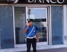 rapina di 500 euro in banca