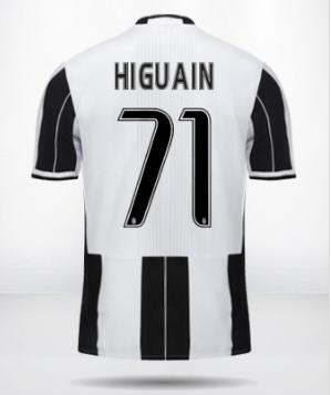 Nuova maglia di Higuain alla Juventus