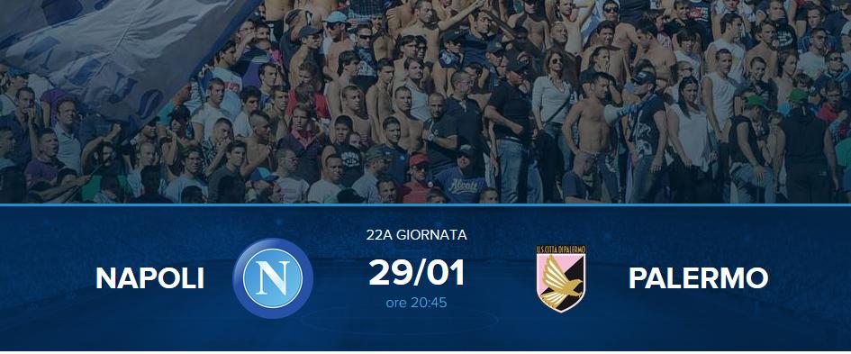 Napoli-Palermo Streaming e diretta TV: