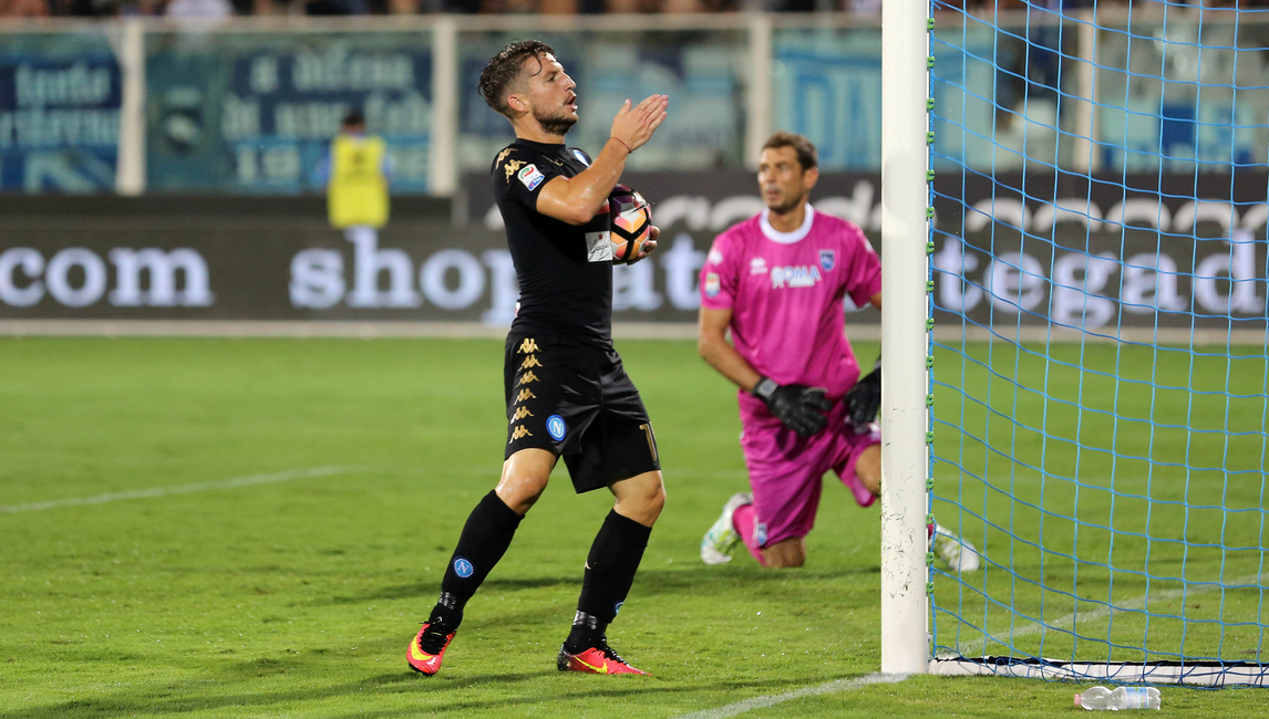 Mertens, nella partita d'andata Pescara-Napoli