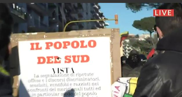 salvini-corteo-di protesta a Napoli