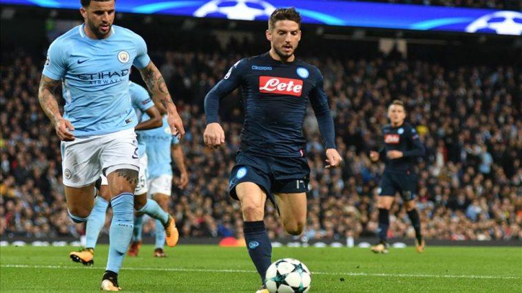 Napoli-Manchester City match di Champions League.