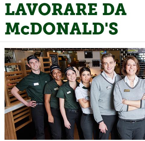 lavorare da McDonald's