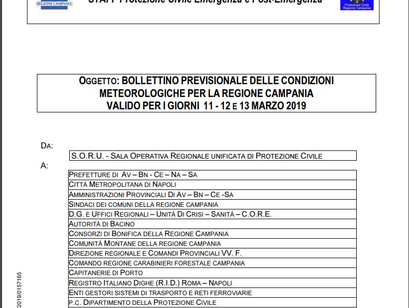 Allerta Meteo Comune di Marano di Napoli