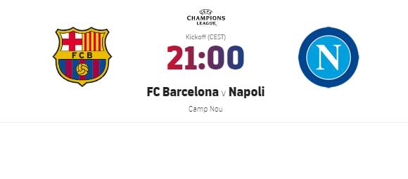 Barcellona Napoli diretta streaming